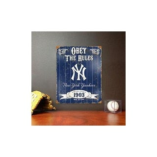 PARTY ANIMAL VSNYY NY Yankees Embossed Metal Sign