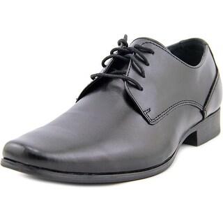 Calvin Klein Brodie Men Apron Toe Leather Black Oxford