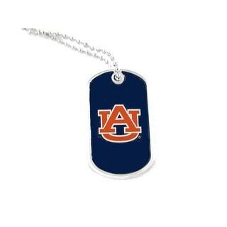 Auburn Tigers Domed Dog Tag Necklace Charm - NCAA