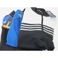 Adidas 3 Pack 1/4 Zip Pullover Medium Blue Black & Gray Logo Overuns Limited Ed