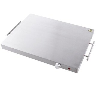 Costway Electric Warming Tray Food Dish Warmer Stainless Steel Hot Plate Buffet Tabletop - Sliver