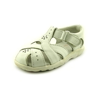Stride Rite Tulip Infant W Round Toe Leather White Fisherman Sandal