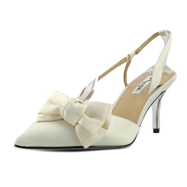 Nina Teddi Women Open Toe Canvas Ivory Sandals