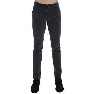 Dolce & Gabbana Gray Stretch Cotton Slim Fit Pants - it44-xs