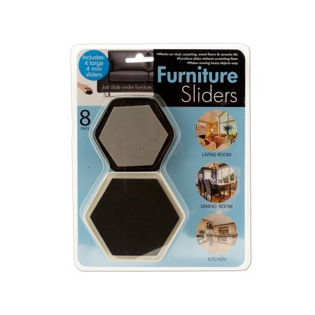 Furniture Sliders With Foam Padding   Pack Of 8   Free Shipping Today    Overstock.com   26329469