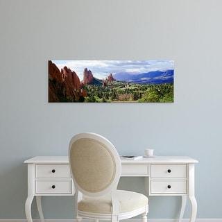 Easy Art Prints Panoramic Image 'Rock formations, Garden of The Gods, Colorado Springs, Colorado' Canvas Art