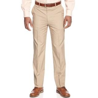 Tommy Hilfiger Hall Cotton Flat Front Chinos Pants 33 x 32 Khaki Trim Fit
