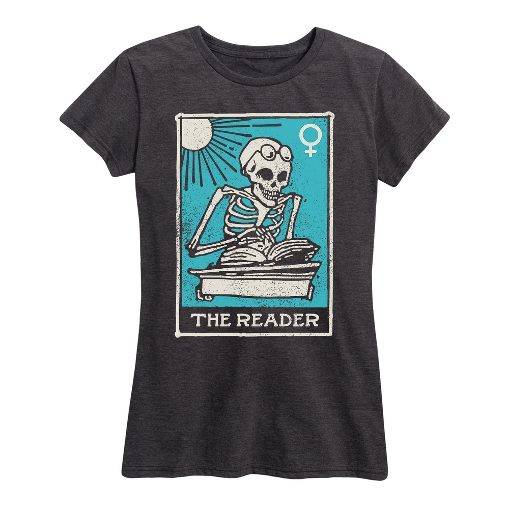 The Reader - Womens Short Sleeve Graphic T-Shirt