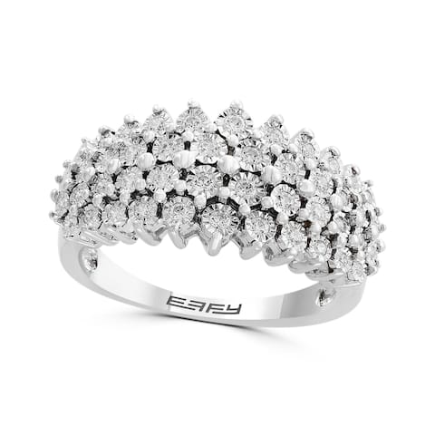Effy Jewelry Diamond Stacked Band in 925 Sterling Silver, 0.32 TWC