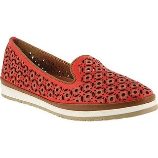 Spring Step Women's Tulisa Loafer Red Leather
