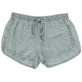 Bella Dahl Womens Tencel Flat Front Casual Shorts - S