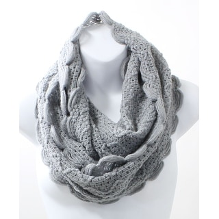 Scallop Edge Winter Infinity Scarf