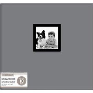 "Gray - K&Company Fabric Post Bound Window Album 12""X12"""