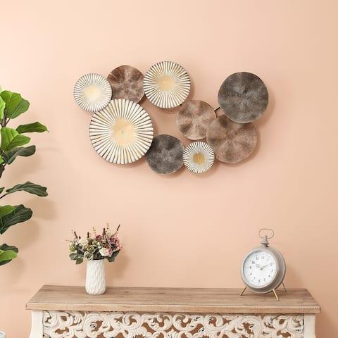 Metal Multi-Colored Petals Wall Decor