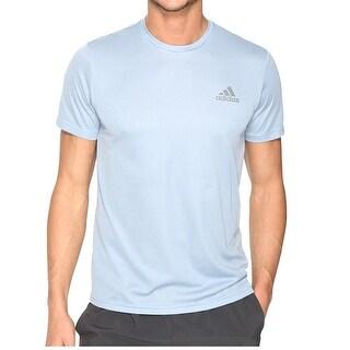 Adidas NEW Blue Mens Size XL Crewneck Logo Shirts & Tops Athletic Apparel 169