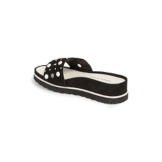 Donald J Pliner Womens cavas Open Toe Casual Slide Sandals - black luxe nubuc - 7