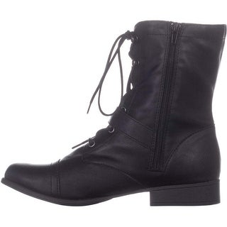 American Rag Womens Farahh Round Toe Ankle Combat Boots