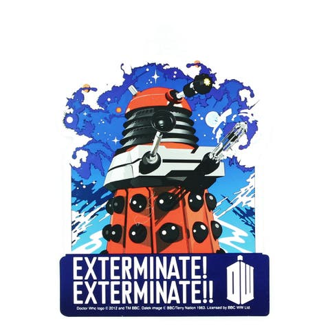 Doctor Who Sticker: Exterminate - multi