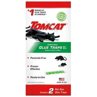 Tomcat 0362910 Super Hold Glue Traps, Rat Size, 2-Pack
