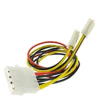 Offex 4 Pin Molex to Floppy Power Y Cable, 5.25 inch Male to Dual 3.5 inch Female, 8 inch
