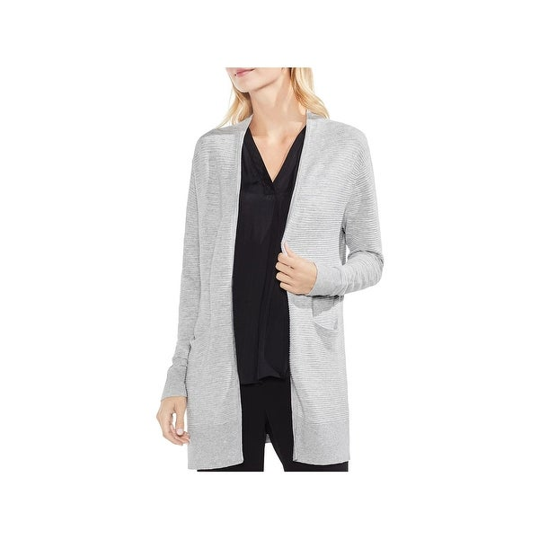 Vince Camuto Womens Cardigan Sweater Textured Long Sleeves