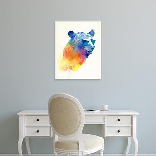 Easy Art Prints Robert Farkas's 'Sunny Bear' Premium Canvas Art