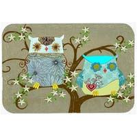 Carolines Treasures PJC1094LCB The Friendly Ladies Owl Glass Cutting Board, Large
