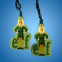 Set of 10 Elf the Movie Novelty Christmas Lights - Green Wire