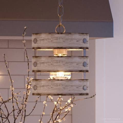 """Luxury Modern Farmhouse Pendant Light, 10""""H x 8.5""""W, with Rustic Style, Galvanized Steel Finish by Urban Ambiance - 8.5"""
