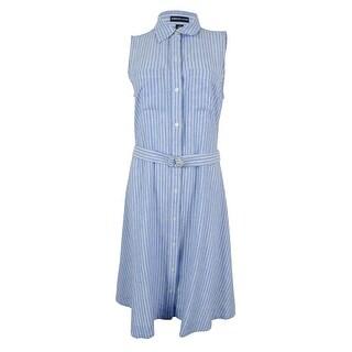 American Living Women's Linen Blend Shirt Dress