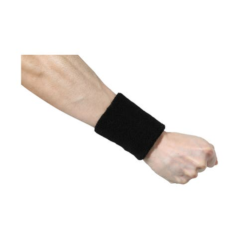 Athletic Cotton Terry Cloth Thick Wrist Protector Sweatband 10 Pcs Pink