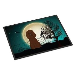 Carolines Treasures BB2253MAT Halloween Scary Irish Water Spaniel Indoor or Outdoor Mat 18 x 0.25 x 27 in.