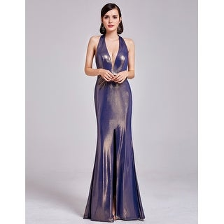 Ever-PrettyLong Women's Halter Open Back Sexy Evening Dress 07206