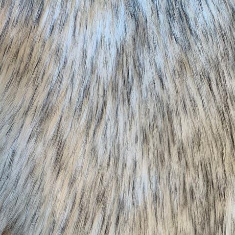 "Highland Select Natural Long Wool Sheepskin 12 Pelt Shag Rug - 5'5"" x 9'2"""