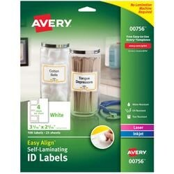 "2.3125""X3.3125"" 50/Pkg - Easy Align Self-Laminating Id Labels"
