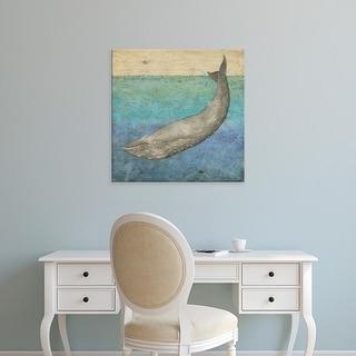 Easy Art Prints Megan Meagher's 'Diving Whale I' Premium Canvas Art