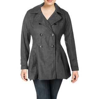 Urban Republic Womens Juniors Pea Coat Wool Blend Double Breasted