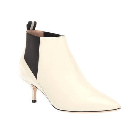 Bally Women's Leather Alanna 55 Heeled Ankle Boot White