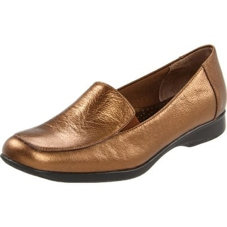 Trotters Womens Jenn Leather Textured Loafers - 7 extra wide (e+, ww)