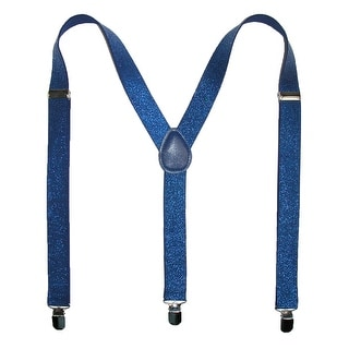 CTM® Women's Elastic Glitter Suspenders - One Size