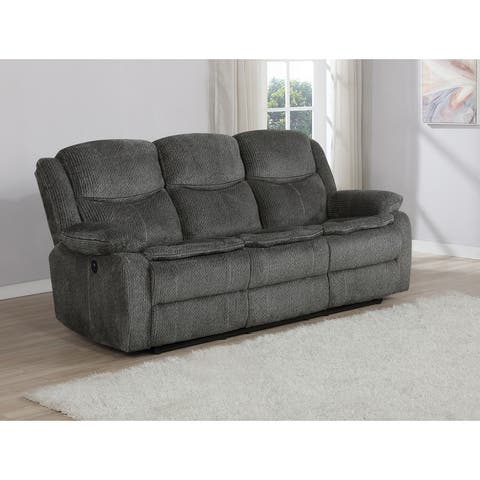 Manchester Upholstered Power Sofa with Drop-down Table