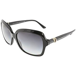 Bvlgari Women's Gradient BV8176B-501/8G-57 Black Square Sunglasses