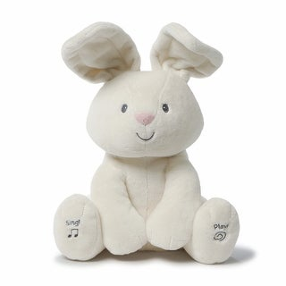 """Gund Baby Flora The Bunny Peek-a-Boo Animated Talking and Singing Plush Toy - Cream - 12"""" - 10 in. x 8 in. x 12 in."""