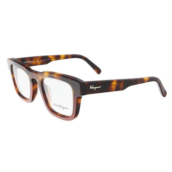 Shop Salvatore Ferragamo SF2716 207 Havana Red Square Optical Frames ...