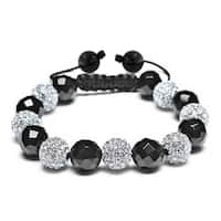 Bling Jewelry Imitation Onyx Shamballa Inspired Bracelet Crystal Alloy
