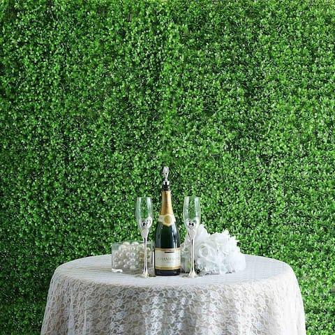 Enova Home 12 Panels 31 Sq ft. Artificial Lime Green Boxwood Hedge Genlisea Faux Foliage Wall Backdrop Decoration