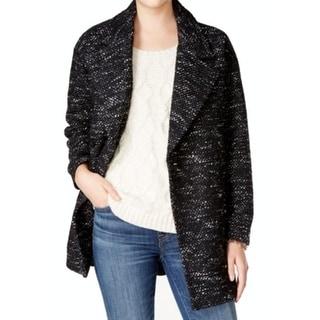 Tommy Hilfiger NEW Black Womens Size Medium M Oversized Wool Blend Coat