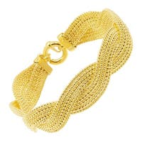 Just Gold Woven Popcorn Chain Bracelet in 14K Gold - Yellow