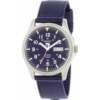Seiko Men's 5 Automatic  Navy Nylon Self Wind Fashion Watch
