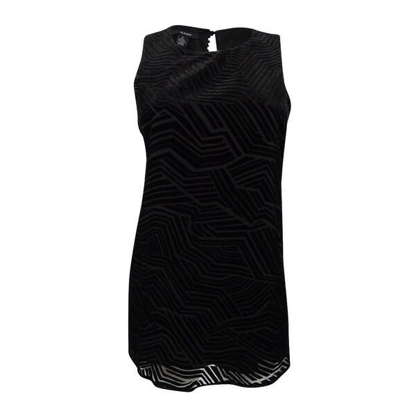 Alfani Women's Sleeveless Velvet Design Top - optic dimension